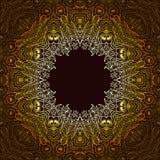 monochrom kwiecisty tło Ręka rysujący dekoracyjni elementy Fotografia Stock