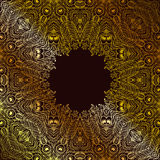 monochrom kwiecisty tło Ręka rysujący dekoracyjni elementy Zdjęcia Royalty Free