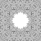 monochrom kwiecisty tło Ręka rysujący dekoracyjni elementy Obraz Royalty Free