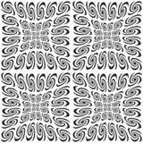 Monochrom-Spiralenmuster des Designs nahtloses Stockbilder