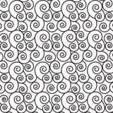 Monochrom spirali linii wzór Zdjęcia Stock