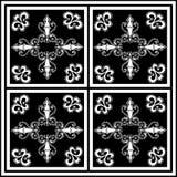 monochrom szczegółowa płytka Obraz Royalty Free