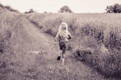 Monochrom weg laufen lassen Stockfotos