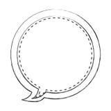 monochrom zamazywał kontur kurenda balonu ramy callout dialog royalty ilustracja