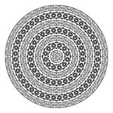 Monochromatic ethnic round border pattern texture Stock Photography