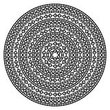 Round ornamental vector shape isolated on white. Monochromatic ethnic seamless textures. Round ornamental vector shape isolated on white. oriental arabesque Stock Photos