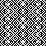 Monochromatic etniczny bezszwowy tło. Obrazy Royalty Free