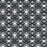 Monochromatic geometric decorative pattern, black rhombic backgr Stock Photos