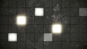 Monochromatic Glowing Square Grid Wall stock video footage