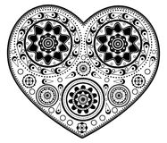 Monochromatic heart ornament Stock Image