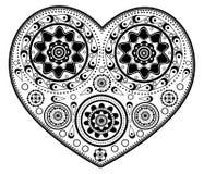 Monochromatic heart ornament stock image