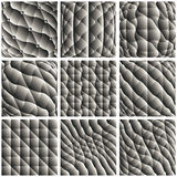 Monochromatic padded cell, abstract background with geometric fi. Gures Royalty Free Stock Photo