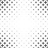 Monochromatic pattern - abstract vector background graphic design from curved geometric shapes Royalty Free Stock Image
