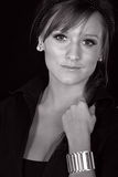 Monochromatic Portrait of a Pretty Teenager Royalty Free Stock Photo