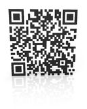 Monochromatic QR code 2 Stock Photos