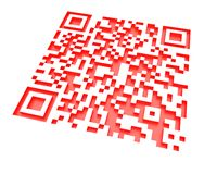 Monochromatic red QR code 2 Royalty Free Stock Photo