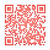 Monochromatic red QR code 1 Stock Photo