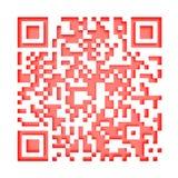 Monochromatic red QR code 1 Stock Photo