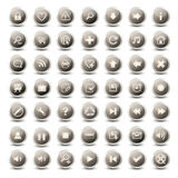 monochromatic rengöringsduk för 49 symboler Royaltyfri Illustrationer