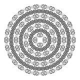 Monochromatic round texture on white Royalty Free Stock Image