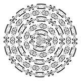 Monochromatic round wzór od popularnych ram ilustracji