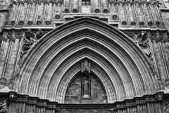 Monochromatic view of medieval cathedral Royalty Free Stock Images