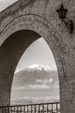 Monochromatic view of volcano Misti, Arequipa, Peru Royalty Free Stock Photo