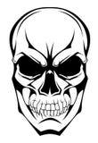 Monochromatyczna czaszka ilustracja wektor