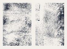 Monochromatyczne abstrakcjonistyczne grunge tekstury Set ręki rysować plamy ilustracji