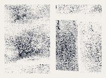 Monochromatyczne abstrakcjonistyczne grunge tekstury Set ręki rysować plamy ilustracja wektor