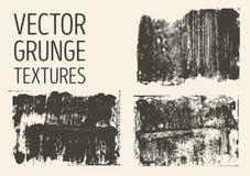 Monochromatyczne abstrakcjonistyczne wektorowe grunge tekstury Set ręka rysujący muśnięcie muska i plamy Zdjęcia Royalty Free