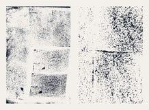 Monochromatyczne abstrakcjonistyczne wektorowe grunge tekstury Set ręki rysować plamy royalty ilustracja