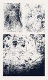 Monochromatyczne abstrakcjonistyczne wektorowe grunge tekstury Set ręki rysować plamy ilustracja wektor