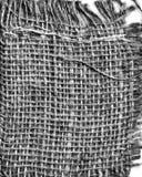 Monochromatycznej Bieliźnianej słomianej tekstury handmade tkanina Obrazy Royalty Free