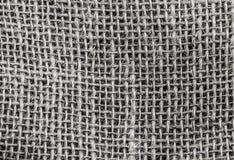Monochromatycznej tkaniny siatki burlap wielkie szarość, naturalne sukienne horyzontalne nici Zdjęcia Stock