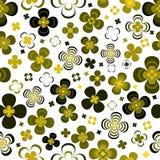 Monochromatyczni abstraktów kwiaty obrazy royalty free