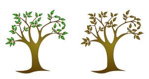 monochromatyczni drzewa ilustracja wektor
