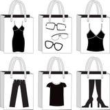 Monochromatyczni torba na zakupy Fotografia Royalty Free