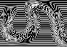 Monochromatyczny abstrakcjonistyczny tło z równoległymi horyzontalnymi liniami pasiasta tekstura wektor ilustracja wektor