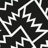 Monochromatyczny afrykański geometryczny bezszwowy wzór ilustracja wektor