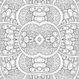 Monochromatyczny Bezszwowy płytka wzór, Galanteryjny kalejdoskop Zdjęcie Stock