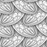 Monochromatyczny Bezszwowy wzór z Etnicznymi motywami Zdjęcie Royalty Free
