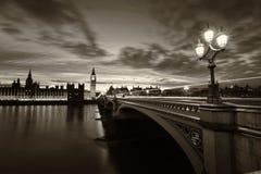 Monochromatyczny Big Ben Londyn Obraz Royalty Free