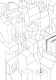 Monochromatyczny geometryczny form 3D skutek Zdjęcia Stock