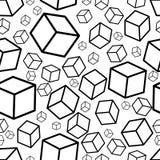 Monochromatyczny isometric spadków sześcianów seamles tekstury tło wektor Zdjęcia Royalty Free