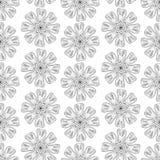 Monochromatyczny kwiecisty wzór Zdjęcie Stock