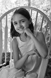 Monochromatyczny portret Latynoska dziewczyna obraz royalty free