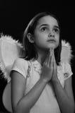 Monochromatyczny portret Mały anioł zdjęcie royalty free