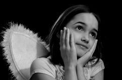 Monochromatyczny portret Mały anioł zdjęcie stock