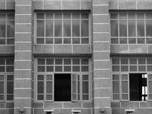 Monochromatyczny siatki linii budynek Obrazy Royalty Free